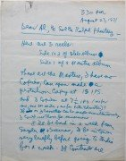 Allen Ginsberg – 1971 Signed Handwritten Letter To Fantasy Records About Blake Album