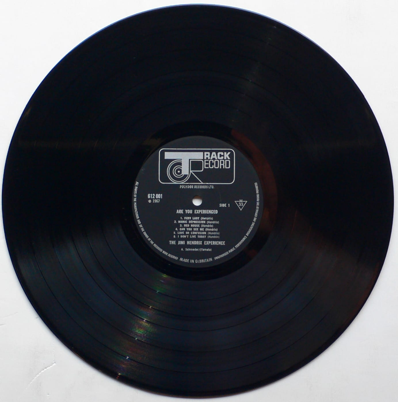 jimi hendrix uk mono first pressing are you experienced lp. Black Bedroom Furniture Sets. Home Design Ideas