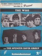 THE WHO – 1966 UK Tour Program With Spencer Davis Group, Jimmy Cliff