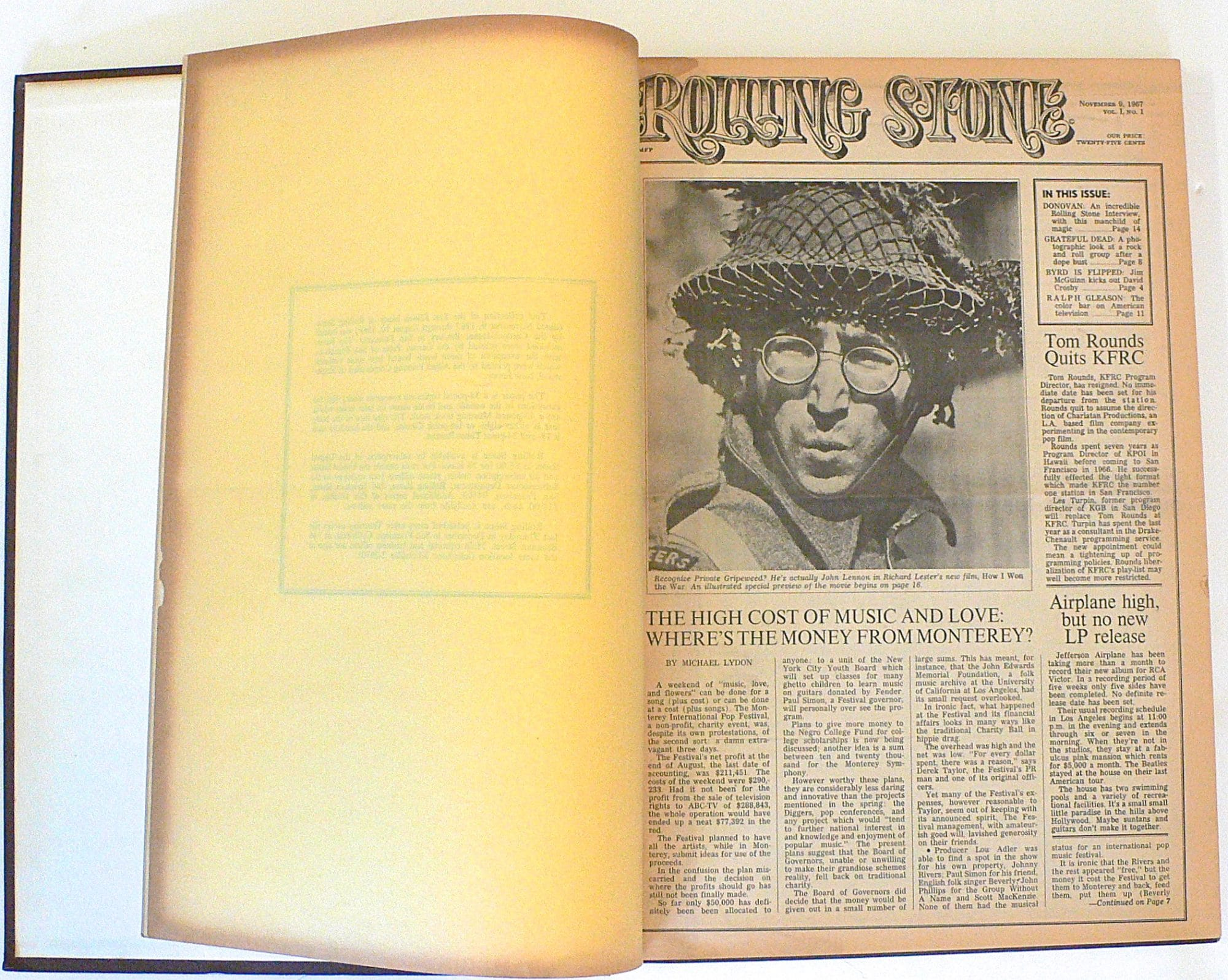Rolling Stone Magazine – Bound Volumes #1 – 7 (Issues #1 – 105)
