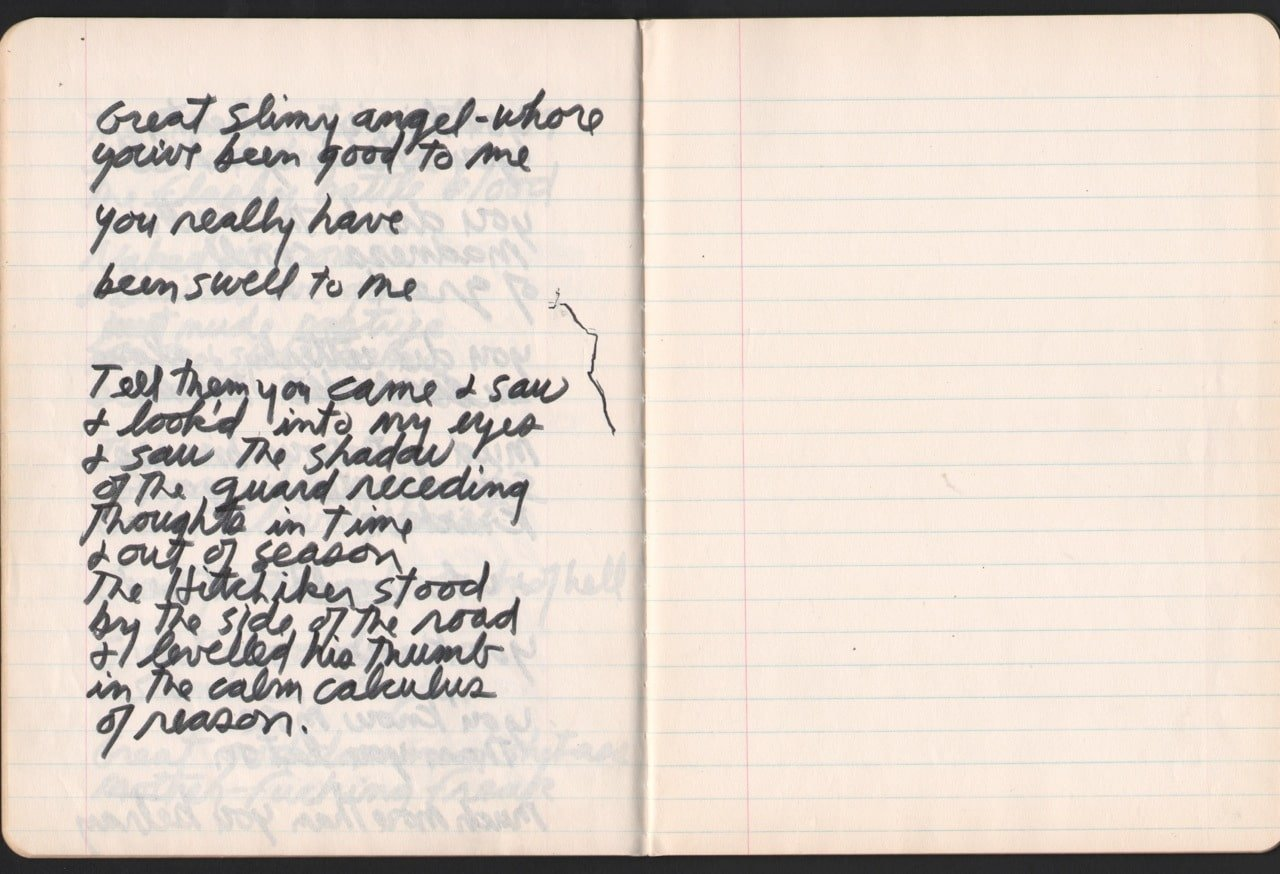 Jim Morrison 1971 Paris Journal Manuscript Notebook