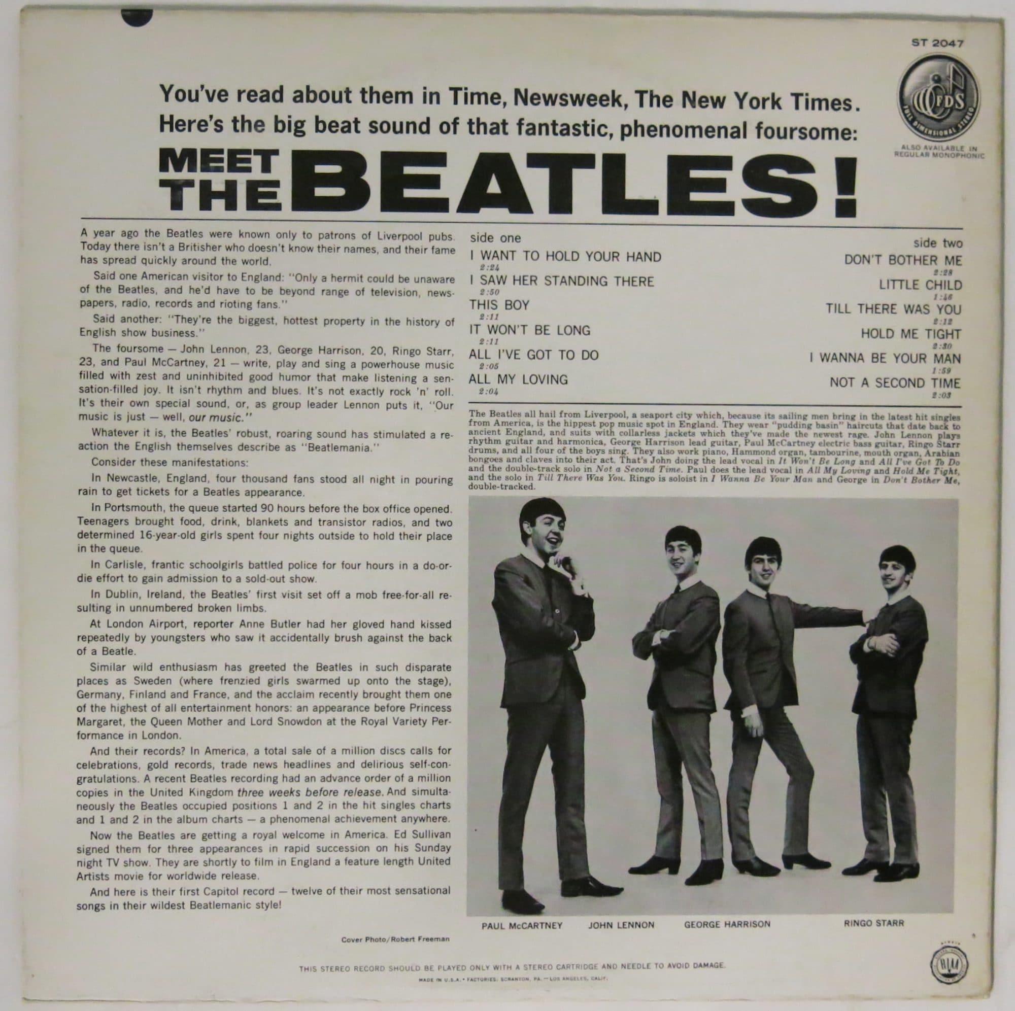 Beatles Meet The Beatles Mint Stereo First Pressing Lp