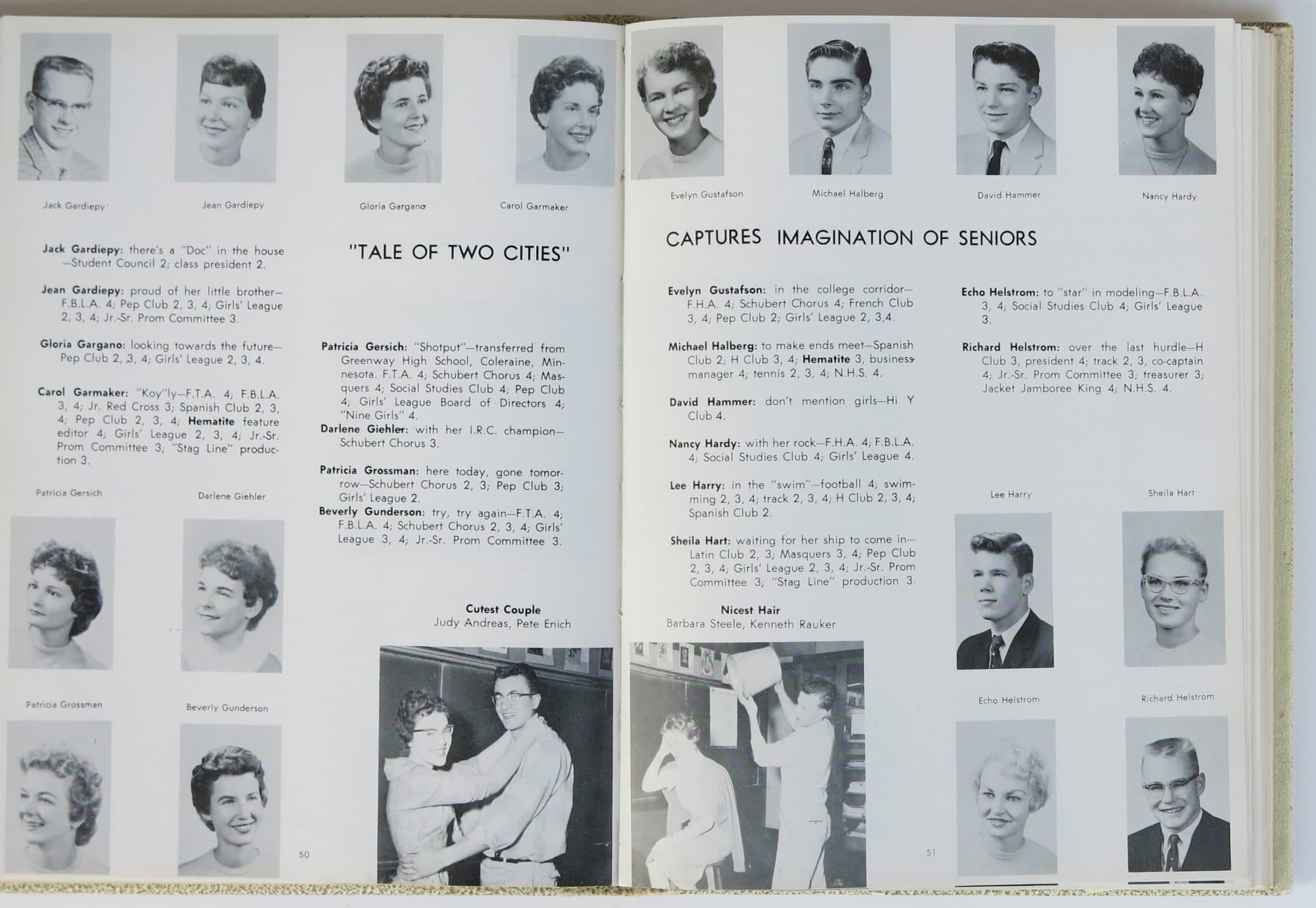 Clubs In Little Rock >> Bob Dylan – 1959 Hibbing High School Yearbook