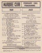 The Who & The Yardbirds (with Eric Clapton) – 1965 Marquee Club Handbill