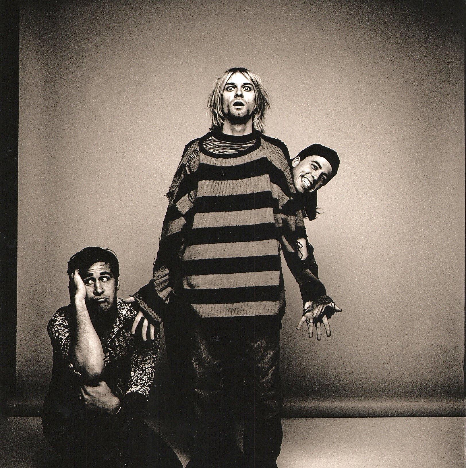 Nirvana - Original Black & White Photograph by Anton Corbijn
