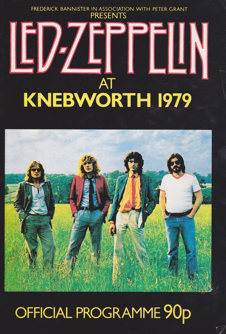 led zeppelin new barbarians knebworth 1979 concert program. Black Bedroom Furniture Sets. Home Design Ideas