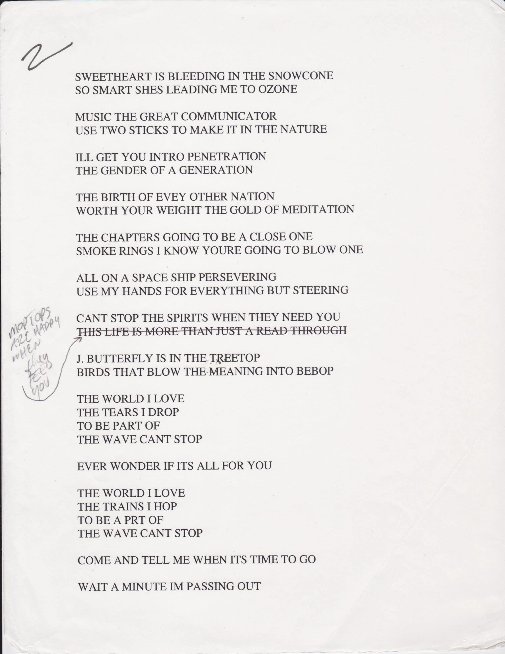 Record collection lyrics