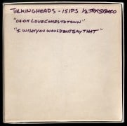 Talking Heads – Unreleased 1977 Rough Mix Master Tape With Outtake