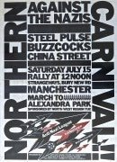 Buzzcocks / Steel Pulse – Rare 'Northern Carnival' Concert Poster / Rock Against Racism