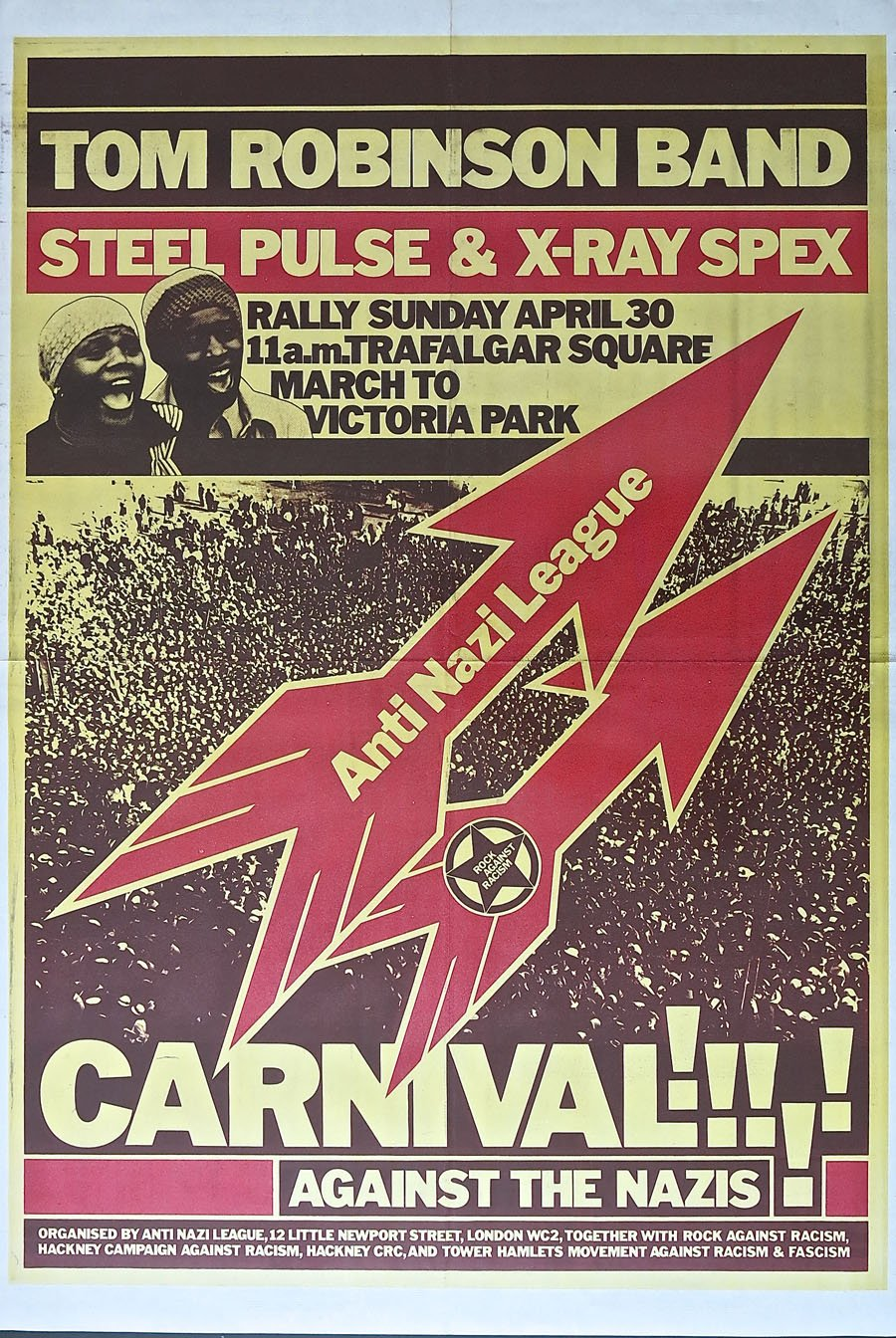 Clash/Buzzcocks/X-Ray Spex – Rock Against Racism/Anti Nazi League 1978  Carnival Poster