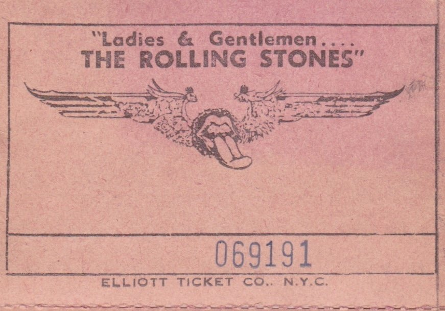 Rolling Stones – 1974 New York Premiere Poster & Ticket