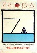 "Frank Zappa – 1982 European Tour Poster ""Ship Too Late…"""