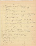 Stephen Stills & Graham Nash – Very Rare Handwritten Setlist (Crosby, Stills & Nash)