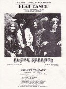 Black Sabbath – Extremely Early 1970 UK Concert Handbill / Vertigo 1st LP