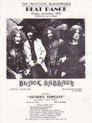Black Sabbath – Extremely Early 1970 UK Concert Handbill / Vertigo 1st LP