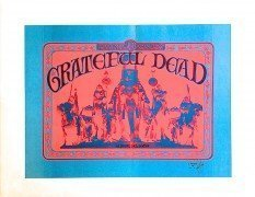 Grateful Dead- 1st Album Promo Poster Proof Signed by Mouse & Kelley