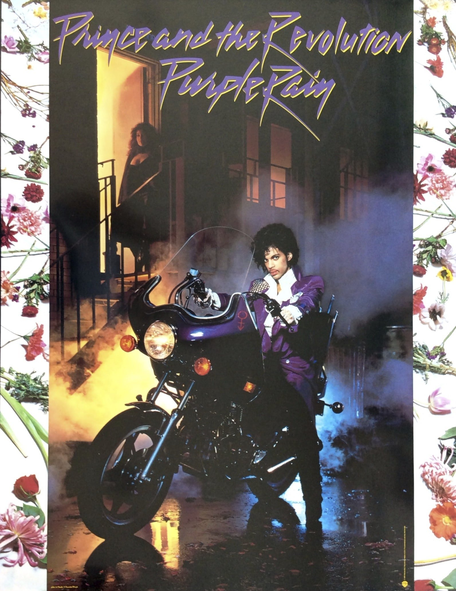 Prince 1984 Purple Rain Lp Promotional Poster