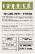 Muddy Waters, Free, Jethro Tull, Yes – 1968 Marquee Handbill