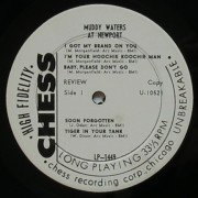 "Muddy Waters – Chess White Label Promo ""At Newport"" LP"