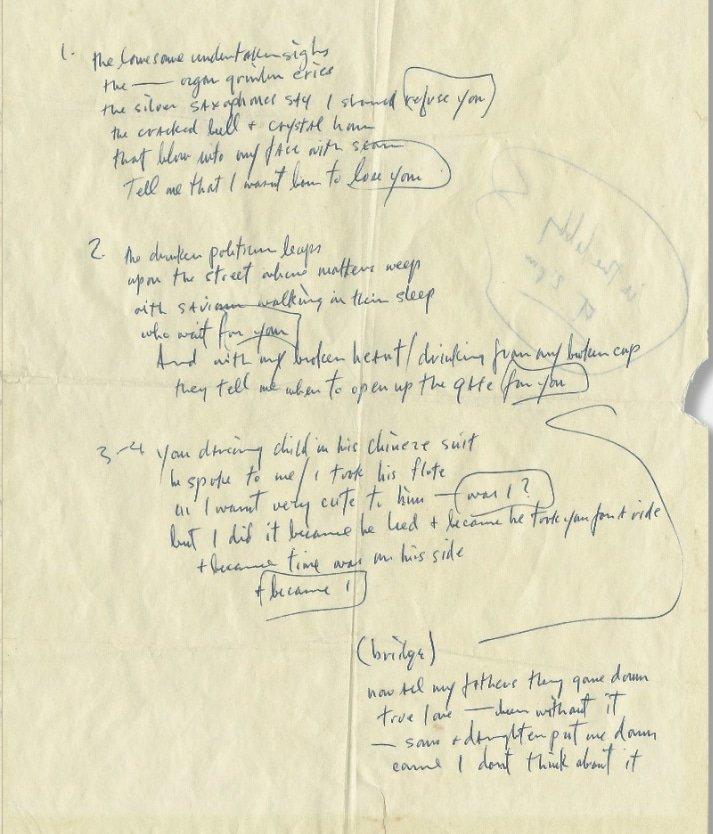 Bob Dylan i want you lyrics