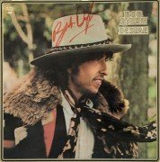 "Bob Dylan – Autographed ""Desire"" Album Cover Flat with Lifetime Guarantee"
