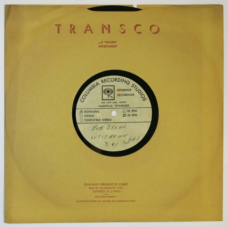 Bob Dylan Dylan Owned 10 Acetate Let It Be Me Alternate Mix