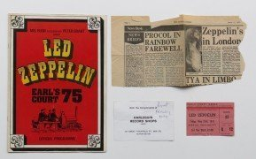 Led Zeppelin – 1975 Earl's Court Concert Program And Ticket Stub