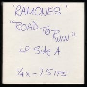 "Ramones – ""Road To Ruin"" Unmastered Master Tapes"