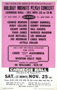 Carnegie Hall '67 Boxing-Style Poster – Lee Morgan, Kenny Burrell, Kenny Dorham,  George Benson, Grant Green, Wynton Kelly, etc.
