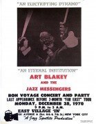 Art Blakey and the Jazz Messengers – 1970 NYC Boxing-Style Jazz Concert Poster