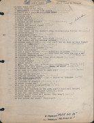 Woody Guthrie – Typed and Handwritten Song List for Songbook