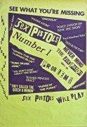 """Sex Pistols – Rare Jamie Reid Designed """"Sex Pistols Number 1 & 2"""" Poster"""