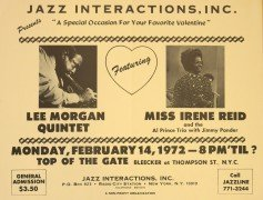 Lee Morgan Quintet – 1972 Valentine's Day Jazz Concert Poster (5 Days Before His Death)