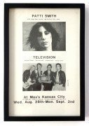 Patti Smith & Television – 1974 CBGB Concert Poster