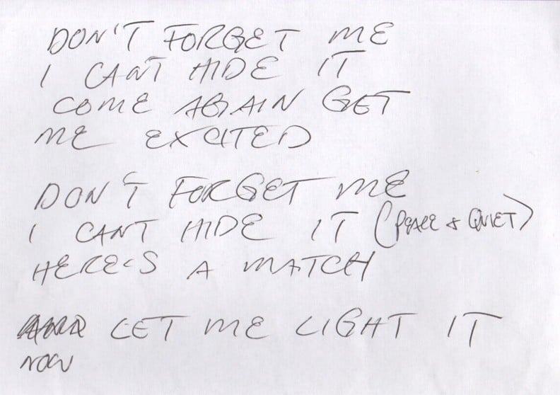 Songtext von Red Hot Chili Peppers - Don't Forget Me Lyrics