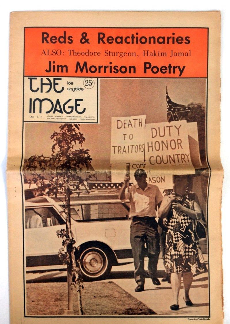 Jim Morrison Rare 1969 LA Image Newspaper With
