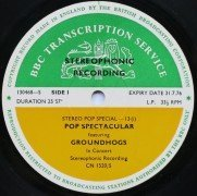 "The Groundhogs – BBC Transcription Disc 1973 ""Pop Spectacular"""