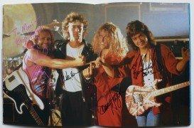 """Van Halen – Signed 1989 Japan """"OU812″ Tour Program"""