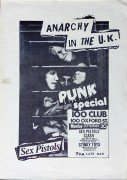 Sex Pistols / The Clash / Siouxsie & The Banshees – Original 100 Club/Punk Special 1976 Concert Poster