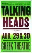 Talking Heads – 1983 Concert Poster/Greek Theatre Los Angeles