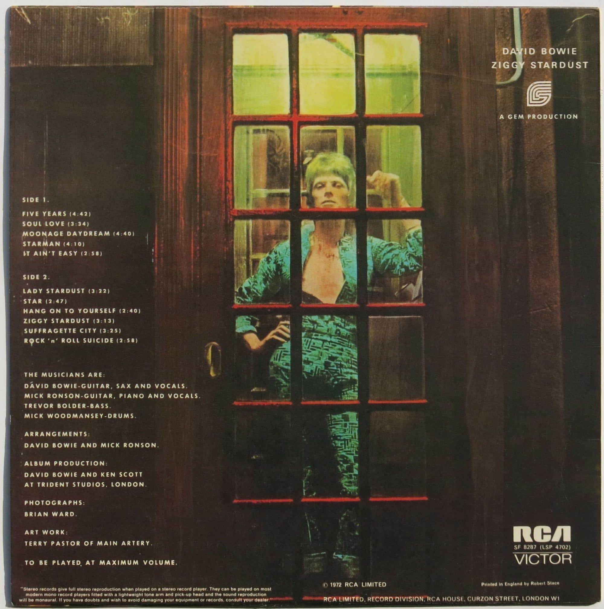 David Bowie Mint Uk 1st Pressing Ziggy Stardust Lp
