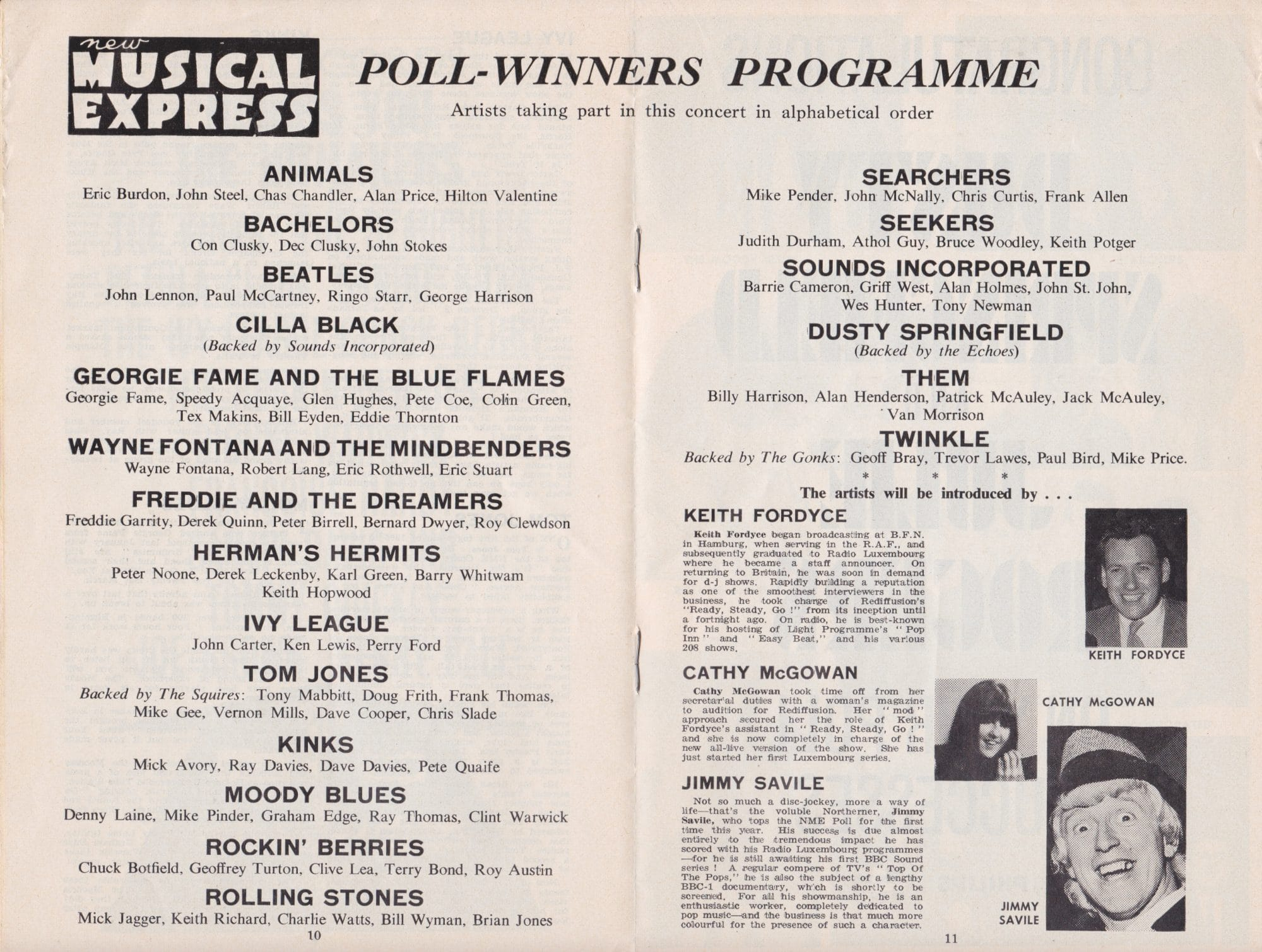 The Beatles Amp Rolling Stones Concert Program For First