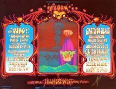 The Who / The Grateful Dead – Mint 1968 Fillmore Concert Poster ( BG-133 ) Signed by Kelley