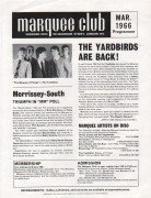 Yardbirds, David Bowie, Small Faces Etc. – 1966 Marquee Club Handbill