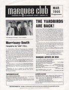 Yardbirds, David Bowie, Small Faces Etc. – 1966 Marquee Club Handbill
