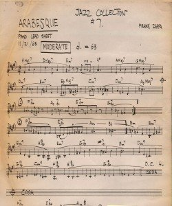 zappa sheet music