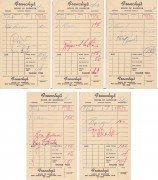 FRANK ZAPPA – 1966 Mothers of Invention Set of Autographs on Burger Receipts / Pre-FREAK OUT