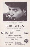 Bob Dylan – 1961 Handbill From 1st Ever Concert From Izzy Young Collection