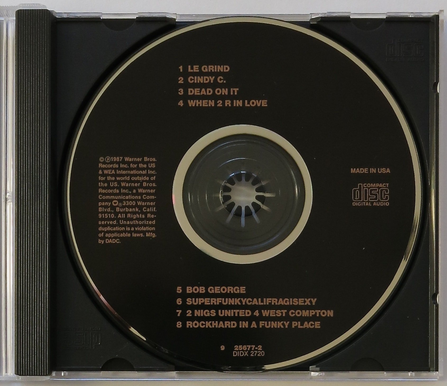 "Prince – Original 1987 ""Black Album"" CD, With Full Provenance"