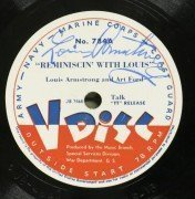 Louis Armstrong – 1947 Signed V-Disc 78RPM Disc, Also Signed By Jack Teagarden